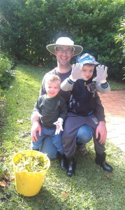 Me with my gardening helpers