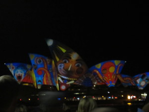 Vivid Sydney display on the Opera House