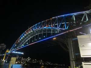 Vivid Sydney lights on the Harbour Bridge