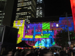 Vivid Sydney display on Customs House